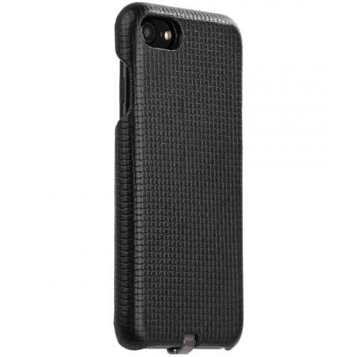 Чехол i-Carer Woven Pattern Series Real Leather Charging Connector для iPhone 7/ 8 Черный