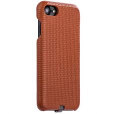 Чехол i-Carer Woven Pattern Series Real Leather Charging Connector для iPhone 7/ 8 Коричневый