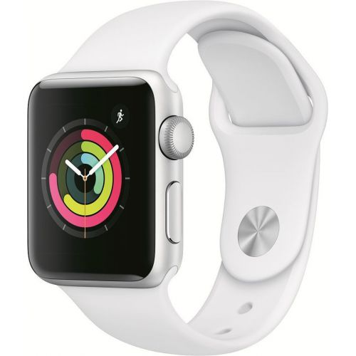 Apple Watch Series 3 38mm Aluminum Case with Sport Band  (White)