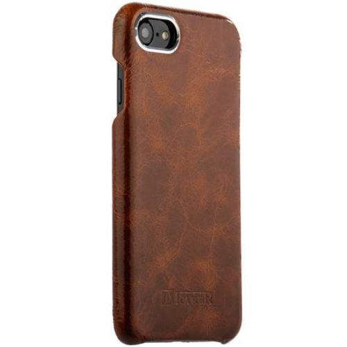 Чехол i-Carer Metal Warrior Oil Wax Real Leather Back Case для iPhone 7/ 8 Коричневый