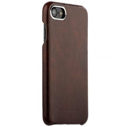 Чехол i-Carer Metal Warrior Oil Wax Real Leather Back Case для iPhone 7/ 8 Темно-коричневый