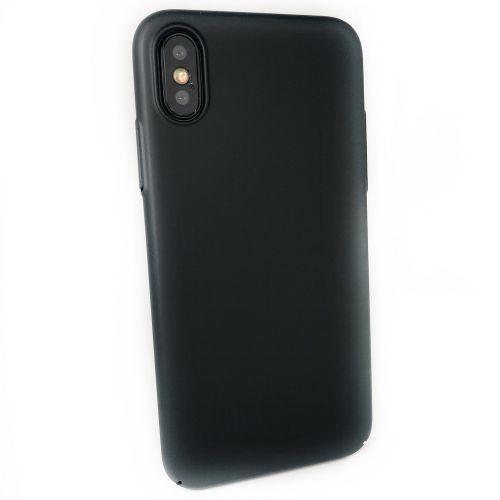 Чехол-накладка пластик COTEetCI Armor PC Case для iPhone X Черный