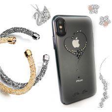 Чехол Kingxbar для iPhone X со стразами Swarovski Черный