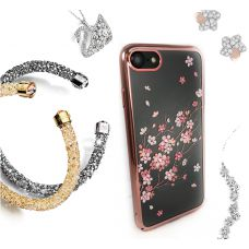 Чехол KINGXBAR для iPhone 7/8 со стразами Swarovski Розовое золото