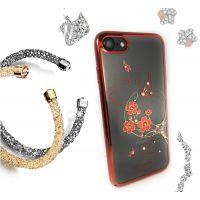Чехол KINGXBAR для iPhone 7/8 со стразами Swarovski Красный