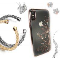 Чехол Kingxbar для iPhone X со стразами Swarovski Розовое золото