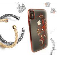 Чехол Kingxbar для iPhone X со стразами Swarovski Красный