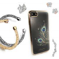 Чехол KINGXBAR для iPhone 7/8 со стразами Swarovski Золотистый