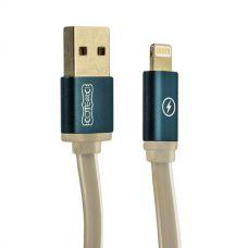 USB дата-кабель COTEetCI Lightning cable Jelly series плоский (1.0 м) - графитовый