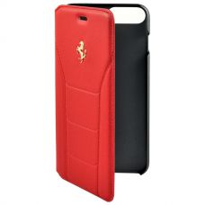 Чехол-книжка Ferrari Gold для iPhone 7Plus/8Plus Красный