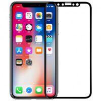 Стекло защитное 5D для iPhone X Черное