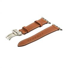 Ремешок кожаный COTEetCI Fashion застёжка «бабочка» для Apple Watch 42мм