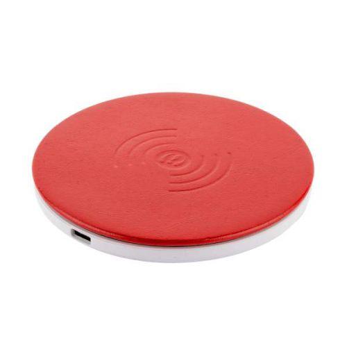 Беспроводное зарядное устройство i-Carer Microfiber Leather Fast Красный