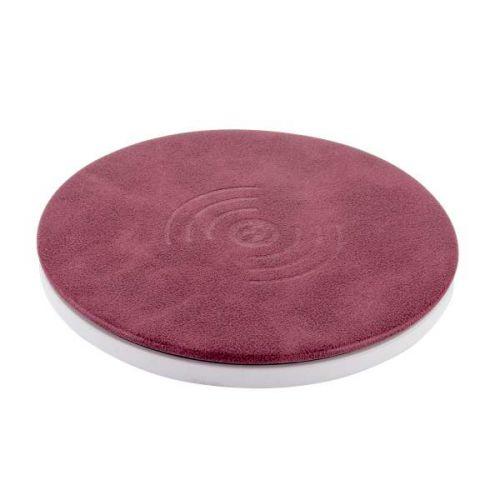 Беспроводное зарядное устройство i-Carer Microfiber Leather Fast Фиолетовый