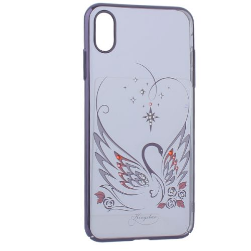 Чехол KINGXBAR для iPhone XS Max со стразами Swarovski (лебединая любовь)