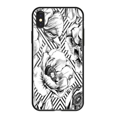 Чехол закаленное стекло Deppa Glass для iPhone XS Max Белый