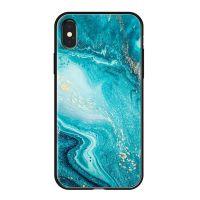Чехол закаленное стекло Deppa Glass для iPhone XR Голубой
