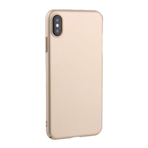 Чехол пластик Soft touch Deppa Air Case для iPhone XS Max 1мм Золотистый