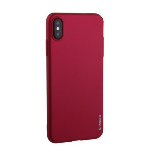 Чехол пластик Soft touch Deppa Air Case для iPhone XS Max 1мм Красный