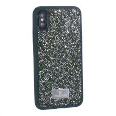Чехол-накладка силиконовая со стразами SWAROVSKI Crystalline для iPhone XS/ X Темно-зеленый