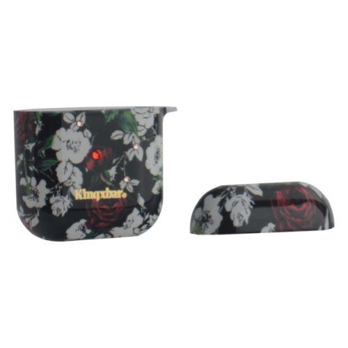Чехол пластиковый Kingxbar для AirPods 2 со стразами Swarovski Роза