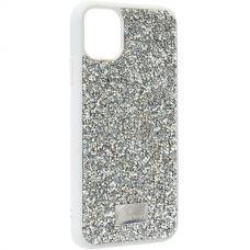 Чехол-накладка силиконовая со стразами SWAROVSKI Crystalline для iPhone 11 Светло-серый