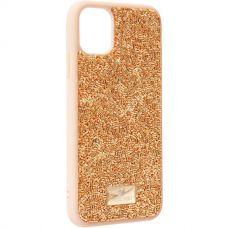 Чехол-накладка силиконовая со стразами SWAROVSKI Crystalline для iPhone 11 Золотой