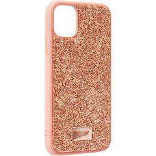 Чехол-накладка силиконовая со стразами SWAROVSKI Crystalline для iPhone 11 Светло-коричневый №3