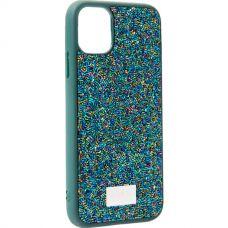Чехол-накладка силиконовая со стразами SWAROVSKI Crystalline для iPhone 11 Темно-зеленый №2
