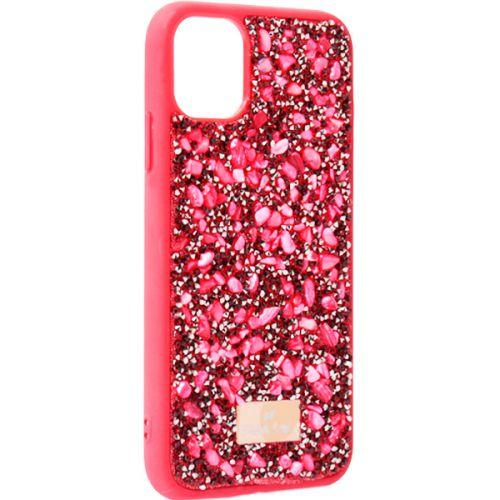 Чехол-накладка силиконовая со стразами SWAROVSKI Crystalline для iPhone 11 Красный №5
