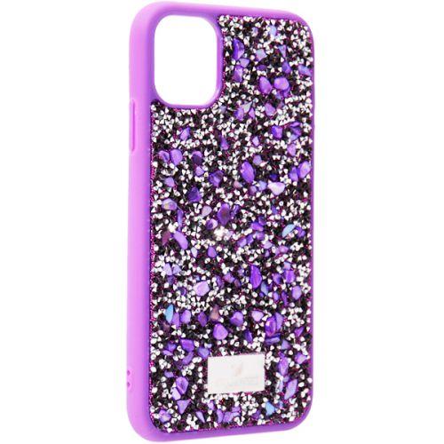 Чехол-накладка силиконовая со стразами SWAROVSKI Crystalline для iPhone 11 Ультрафиолет