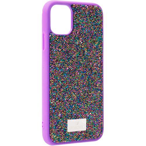 Чехол-накладка силиконовая со стразами SWAROVSKI Crystalline для iPhone 11 Ультрафиолет №2