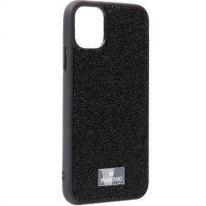 Чехол-накладка силиконовая со стразами SWAROVSKI Crystalline для iPhone 11 Черный №5
