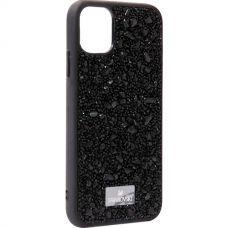 Чехол-накладка силиконовая со стразами SWAROVSKI Crystalline для iPhone 11 Черный №6