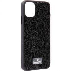 Чехол-накладка силиконовая со стразами SWAROVSKI Crystalline для iPhone 11 Черный №7
