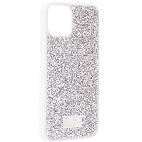 Чехол-накладка силиконовая со стразами SWAROVSKI Crystalline для iPhone 11 Pro Светло-серый