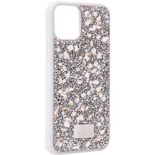Чехол-накладка силиконовая со стразами SWAROVSKI Crystalline для iPhone 11 Pro Светло-серый №2