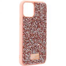 Чехол-накладка силиконовая со стразами SWAROVSKI Crystalline для iPhone 11 Pro Светло-коричневый