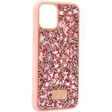 Чехол-накладка силиконовая со стразами SWAROVSKI Crystalline для iPhone 11 Pro Светло-коричневый №2