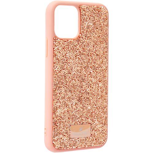 Чехол-накладка силиконовая со стразами SWAROVSKI Crystalline для iPhone 11 Pro Светло-коричневый №3