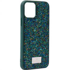 Чехол-накладка силиконовая со стразами SWAROVSKI Crystalline для iPhone 11 Pro Темно-зеленый №2
