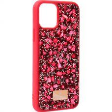 Чехол-накладка силиконовая со стразами SWAROVSKI Crystalline для iPhone 11 Pro Красный №5