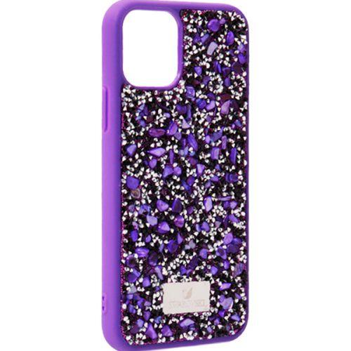 Чехол-накладка силиконовая со стразами SWAROVSKI Crystalline для iPhone 11 Pro Ультрафиолет