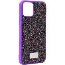 Чехол-накладка силиконовая со стразами SWAROVSKI Crystalline для iPhone 11 Pro Ультрафиолет №2