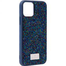 Чехол-накладка силиконовая со стразами SWAROVSKI Crystalline для iPhone 11 Pro Темно-синий №5