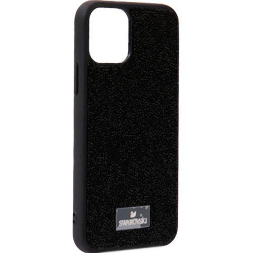 Чехол-накладка силиконовая со стразами SWAROVSKI Crystalline для iPhone 11 Pro Черный №5