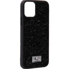 Чехол-накладка силиконовая со стразами SWAROVSKI Crystalline для iPhone 11 Pro Черный №6