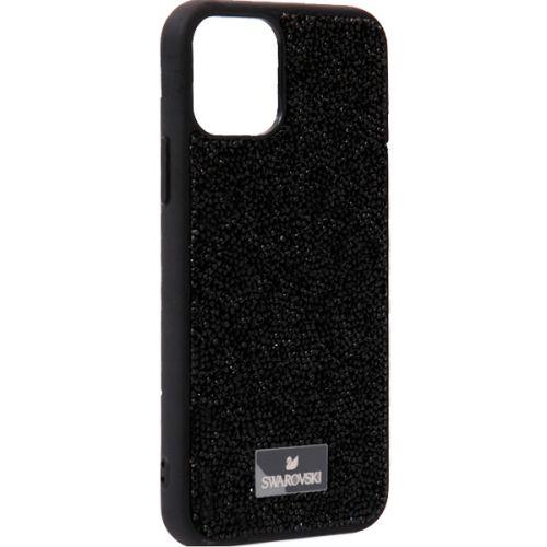 Чехол-накладка силиконовая со стразами SWAROVSKI Crystalline для iPhone 11 Pro Черный №7
