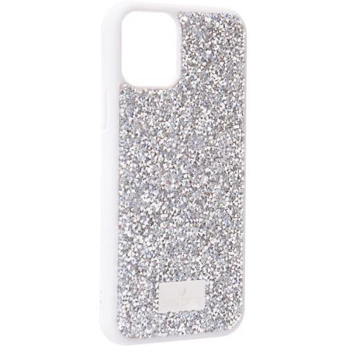 Чехол-накладка силиконовая со стразами SWAROVSKI Crystalline для iPhone 11 Pro Max Светло-серый