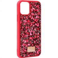 Чехол-накладка силиконовая со стразами SWAROVSKI Crystalline для iPhone 11 Pro Max Красный №5